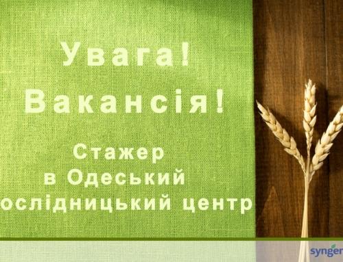 Стажер в Одеський діагностичний центр компанії Syngenta